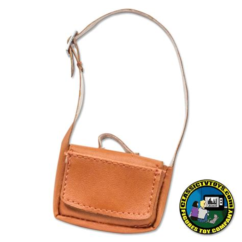 8 inch figure accessories leather brown bag for 8 inch figure