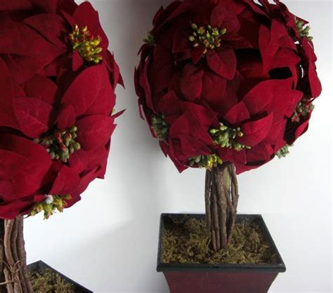 poinsettia topiary tree 2 poinsettia topiary trees 35 inches high