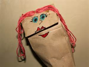 Make A Paper Bag Puppet - how to make a paper bag puppet 6 steps with pictures