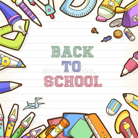 Back To School Poster Template back to school poster and banner design stock vector