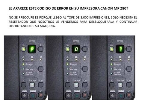 reset mp280 reset canon mp 280 25 000 en mercado libre