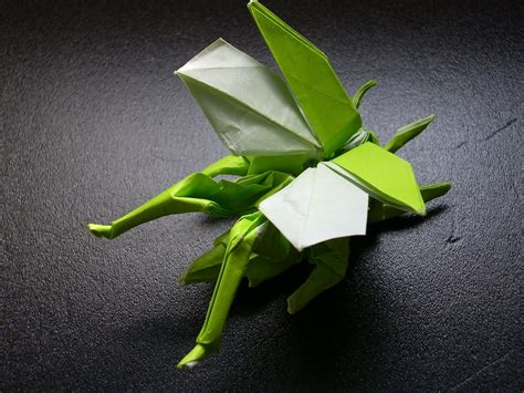 Origami Flying - katakoto origami origami flying grasshopper