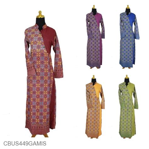 Gamis Pekalongan baju batik gamis pekalongan motif songket kawung gamis