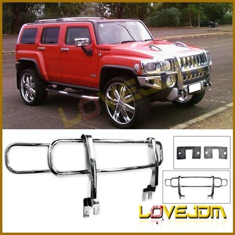 hummer parts canada fits 06 10 hummer h3 front brush grill guard polished