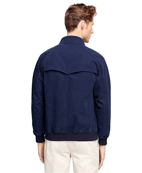 Jaket Cotton 1 lyst brothers cotton zip front jacket in blue for