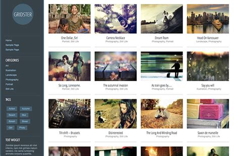wordpress themes free left menu showcase of beautiful wordpress themes with left sidebars