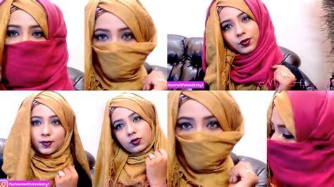 hijab with niqab tutorial youtube pohela boishakh most gorgeous hijab niqab tutorial india