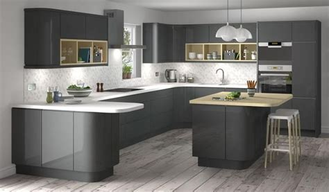 dark gray cabinets kitchen lucido senza handleless style kitchen in graphite dark