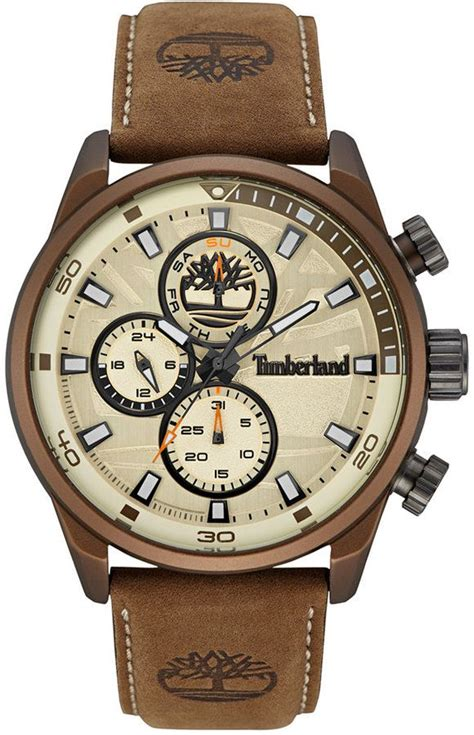 Timberland Tbl14479jsb07 Beige Brown Leather timberland s henniker 2 brown leather 46x53mm tbl14816jlbn07 s watches