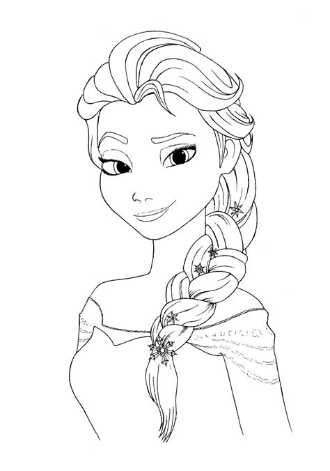 elsa and coloring pages elsa coloring page by mortusk on deviantart