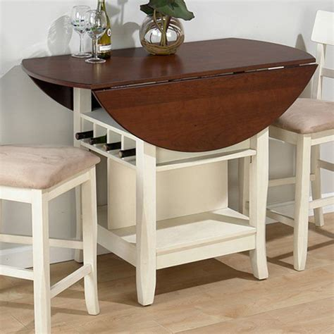pub table with leaf jofran counter height table in white cherry get with 4