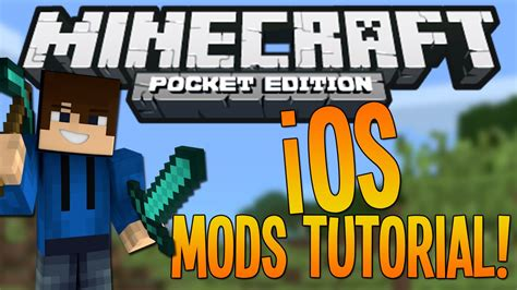 mod in minecraft pe ios how to install ios mods minecraft pocket edition youtube
