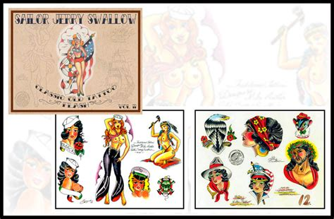 tattoo flash books sailor jerry swallow flash book vol 2