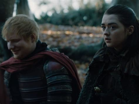 Ed Sheeran Game Of Throne | game of thrones ed sheeran scene was important for arya