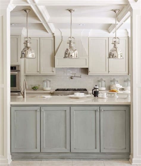 two tone kitchen island transitional kitchen sherwin williams wool skein tobi fairley