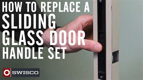 How To Replace A Sliding Glass Door Handle Set Youtube How To Replace Glass In Door