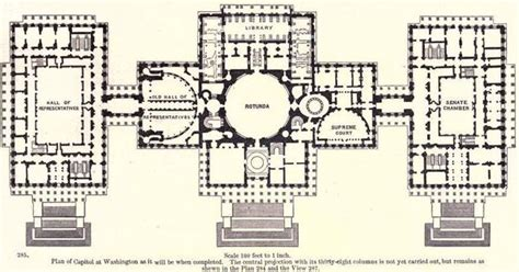 capitol building floor plan proposed floor plan us capitol building 1891 architectural drawings models