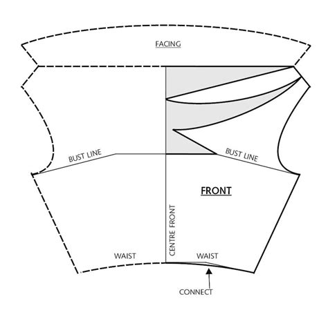 how to draw boat neckline deep cowl neckline 183 extract from fashion patternmaking