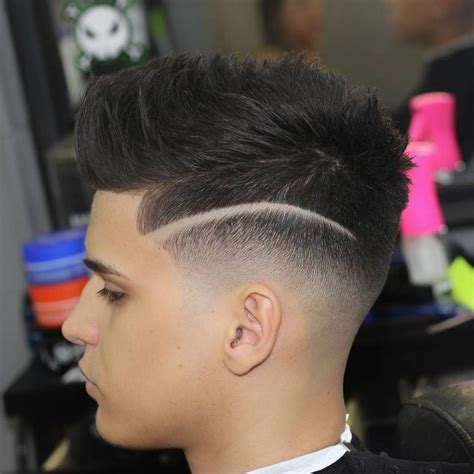 blowout hairstyles for black men a line in the side 50 best blowout haircut ideas for men high 2018 trend