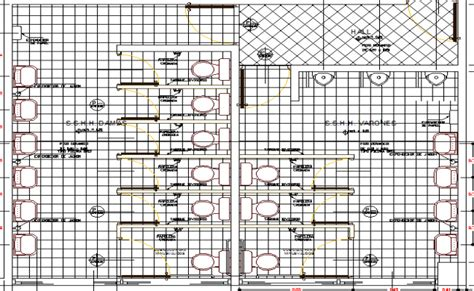 public bathroom plan public toilet design and elevation plan dwg file