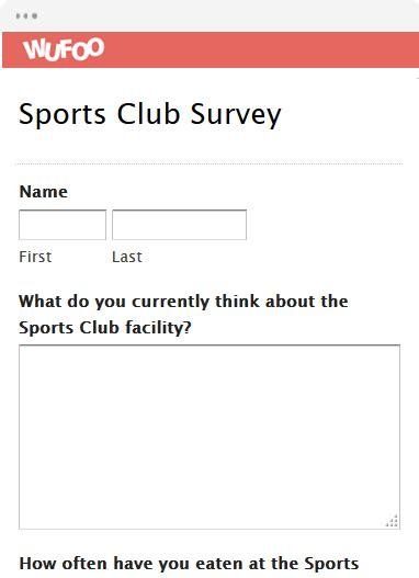 Survey Club - online form template wufoo