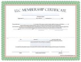 Membership Certificate Template by Llc Membership Certificate Free Limited Liability