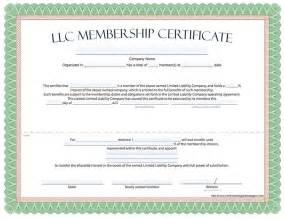 membership certificate template free llc membership certificate free limited liability