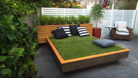 how to build a day bed how to build a grass day bed in your backyard