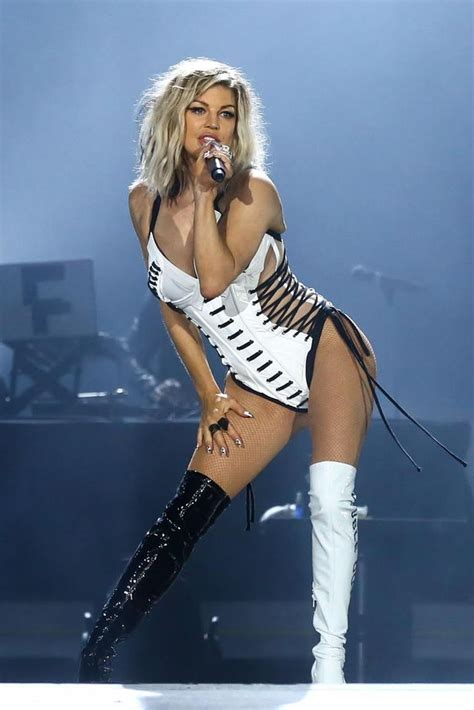 Fergie Looks Like Real Live by Fergie Makes A Return To The Stage Following News Of