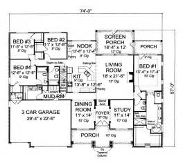 Traditional Open Floor Plans by 655985 4 Bedroom 3 5 Bath Traditional With Open Floor