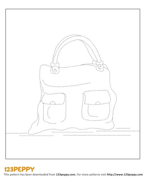 drawing bag pattern printable how to draw pattern leather bag
