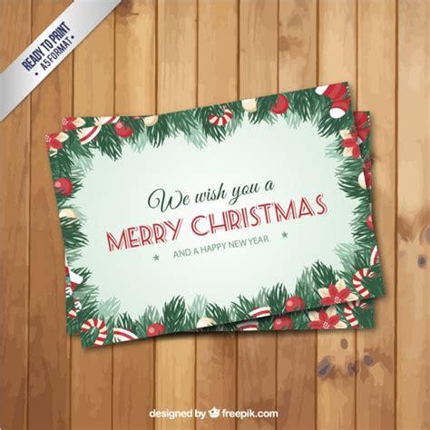 cornici per cartoline retro cartolina di natale con un foglie cornici