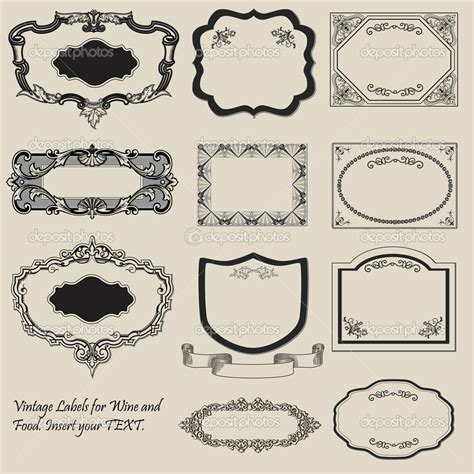 free vintage label templates professional sles templates
