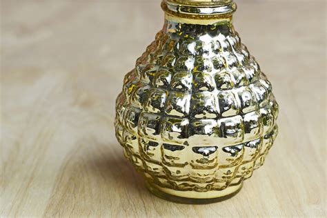 Gold Mercury Glass Vases by Gold Mercury Glass Carraway Vase 8 Quot