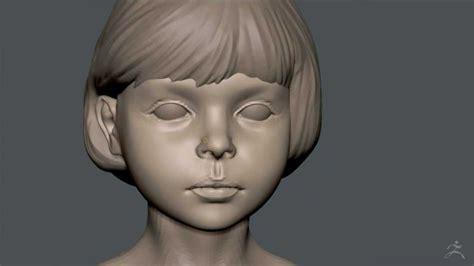 zbrush sculpting kid 01