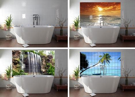 bathroom wall murals picture tile wall murals floor photo tiles mimic nature