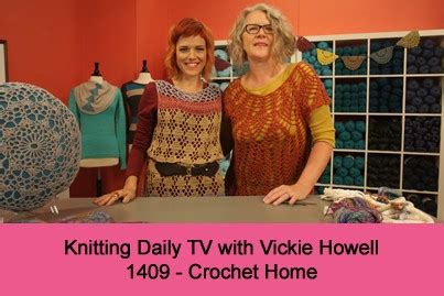 knitting daily tv patterns knitting daily tv with vickie howell episode 1409