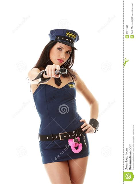 sexy police girl royalty  stock photography image