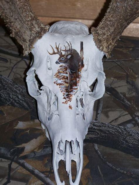spray painting deer skull image detail for european skull mounts ritch miller