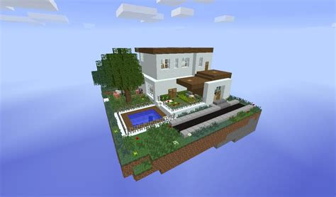 house in the sky sky house survival minecraft project
