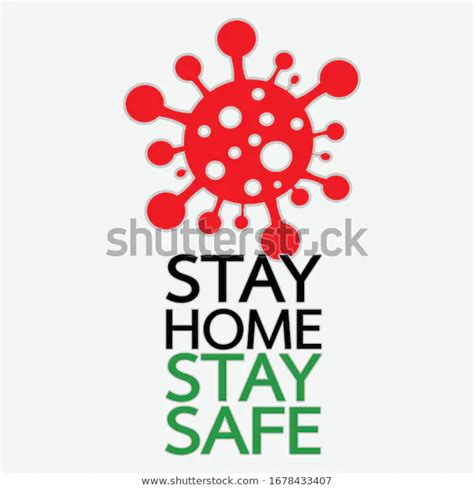 stay home stay safe quote vector stock vector royalty