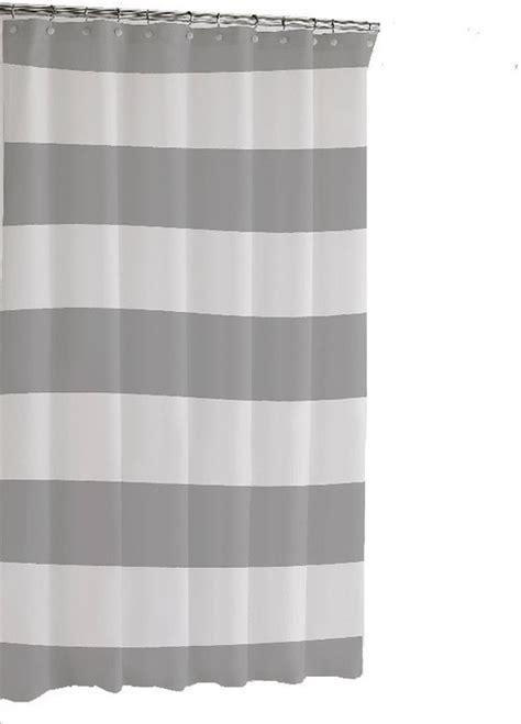 Scandinavian Shower Curtain by Hampton Stripe Shower Curtain Gray Scandinavian