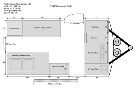Home Design Stores Utah concession trailer floor plans for apollo concession trailers