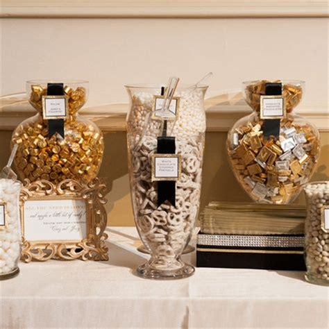 Gold, Silver and White Candy Buffet   I DO: my wedding candy bar   Pinterest   Wedding gold