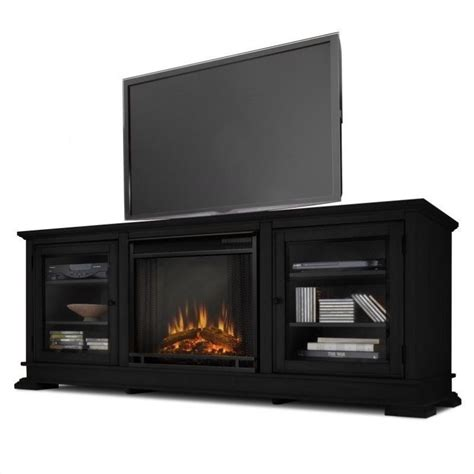 Entertainment Stand With Electric Fireplace by Chania