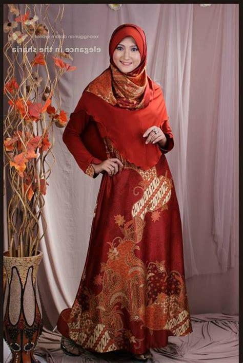 desain baju batik pesta muslim baju pesta batik sutra www outletbusanamuslim com