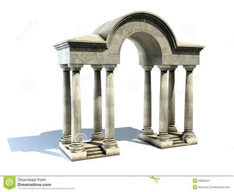 Entrance Columns Entrance With Arch And Columns Stock Illustration Image