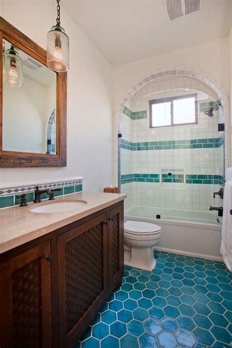 spanish tile bathroom ideas house of turquoise erin hedrick design turquoise tile