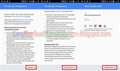 buat akaun gmail yang baru contoh buat akun google baru lewat hp samsung android
