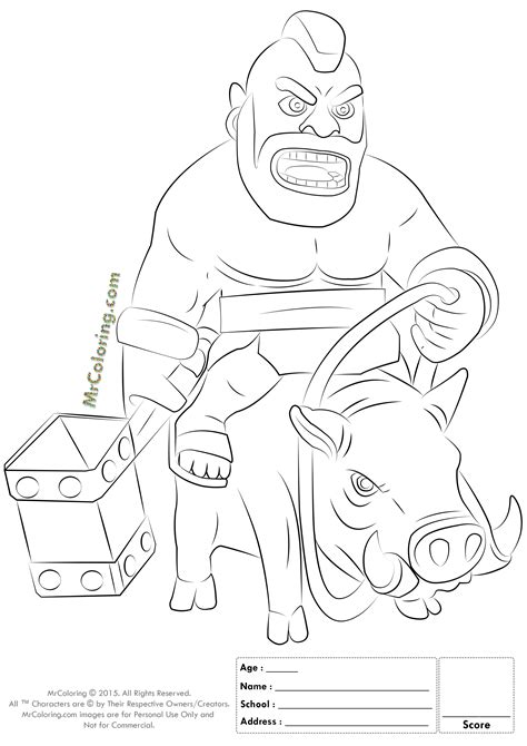 barbarian king coloring pages 17 images of clash of clans brabarian coloring pages